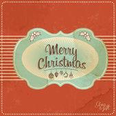 Röd vintage julkort — Stockfoto