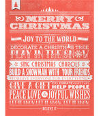 Vintage Christmas And Happy New Year Background With Typography — Fotografia Stock