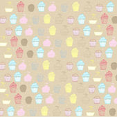 Cupcakes Seamless Pattern — Stock Photo