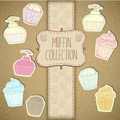 Cupcake Collection — Stock Photo
