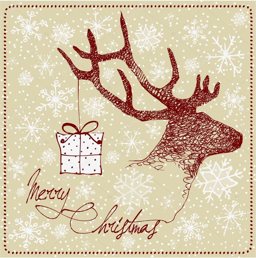 Нарисованные рождественские открытки своими руками