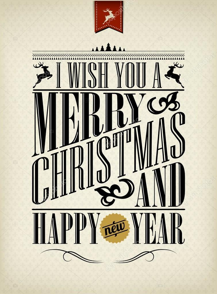 755 x 1023 jpeg 234kB, Vintage Christmas And Happy New Year Background ...