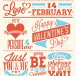 Happy Valentine's Day Hand Lettering - Typographical Background — Stock Photo #19612009