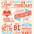 heureuse Saint Valentin main lettrage - fond typographique — Photo #19612009