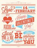 Happy Valentine's Day Hand Lettering - Typographical Background — Stockfoto