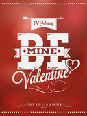 Happy Valentine's Day Hand Lettering - Typographical Background — Foto Stock