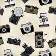 Set Of Vintage Cameras Background — Stock Photo #19623839