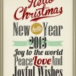 Stok fotoğraf: Vintage Christmas Background Flag With Typography