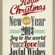 Vintage Christmas Background Flag With Typography - Stock Photo