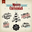 Vintage Christmas Background Flag With Typography — Foto de Stock
