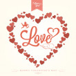 Stock Photo: Happy Valentine's Day Hand Lettering - Typographical Background