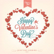 Happy Valentine's Day Hand Lettering - Typographical Background — Stock Photo
