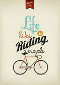 Retro illustration cykel — Stockfoto
