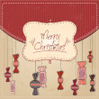 Colorful Decorative Christmas Card — Stock Photo