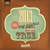 Vintage Happy New Year Calligraphic And Typographic Background — Stock Photo