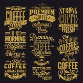 Set Of Vintage Retro Coffee Labels — Stock Photo