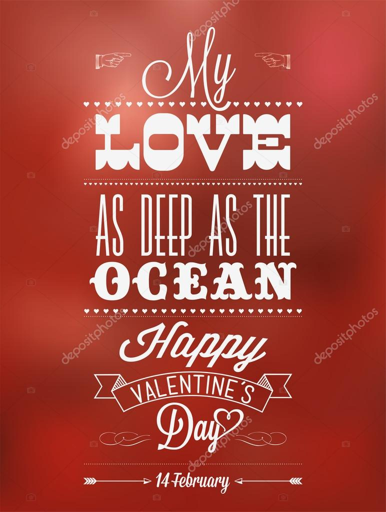 Happy Valentine's Day Hand Lettering - Typographical Background — Stock Photo #19867555