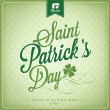 Saint Patrick's Day Typographical Background — Stock Photo