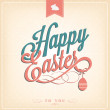 Happy Easter Typographical Background — Stock fotografie
