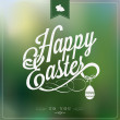 Happy Easter Typographical Background — Stock Photo