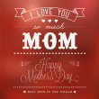 Vintage Happy Mothers's Day Typographical Background - Stock Photo
