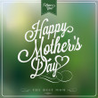 Vintage Happy Mothers's Day Typographical Background — Stock Photo #24149533