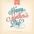 Vintage Happy Mothers's Day Typographical Background — Stock Photo #24149535