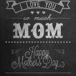 Happy Mother's Day Typographical Background On Blackboard With Chalk - Stock Photo