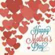 VIntage Happy Mothers's Day Typographical Background With Hearts — Lizenzfreies Foto