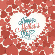 VIntage Happy Mothers's Day Typographical Background With Hearts — Foto de Stock