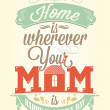 Stock Photo: Vintage Happy Mothers's Day Typographical Background
