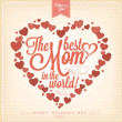 VIntage Happy Mothers's Day Typographical Background With Hearts — Stock Photo #24149763