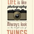 Vintage Old Camera Typographical Poster - Stock Photo