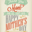 Vintage Happy Mothers's Day Typographical Background — Foto Stock
