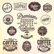 Set Of Vintage Retro Coffee Badges And Labels - Стоковая фотография