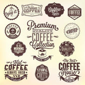 Set Of Vintage Retro Coffee Badges And Labels — Stock Photo