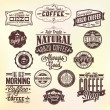 Set Of Vintage Retro Orzo Coffee Labels. — Stock Photo #24150011