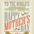 Vintage Happy Mother's Day Typographical Background — Stock Photo