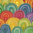 Colorful Circle Modern Abstract Design Pattern - Stock Photo
