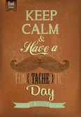 Have A Fun - tache - tic Day Typographical Background — Stock Photo