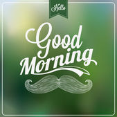 Good Morning Typographical Background — Stock Photo