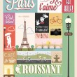Typographical Retro Style Poster With Paris Symbols And Landmarks — Stock Photo #27885373