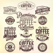 Set Of Vintage Retro Coffee Badges And Labels — ストック写真