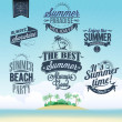 Retro elements for Summer calligraphic designs. Vintage ornaments — ストック写真