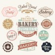 Vintage Retro Bakery Badges And Labels — Stock Photo #27885387