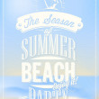 Beautiful Seaside View Poster. Vector background. With Typography — ストック写真