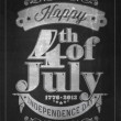Vintage Style Independence Day poster with the wording : Happy 4th of July 1776-2013, Independence Day — 图库照片