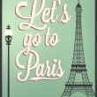 Typographical Retro Style Poster With Paris Symbols And Landmarks — Stock Photo #27885471