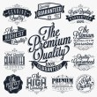 Set of Vintage Premium Quality Stickers And Elements — Stock Photo