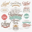 Illustration of Vintage Typographical Element for Menu — Stock Photo #27886867